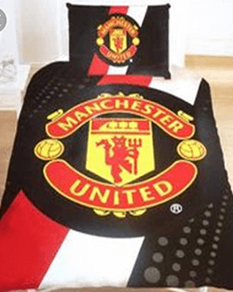 Manchester United quality Bed Sheet with 4 pillow case and 1 duvet
