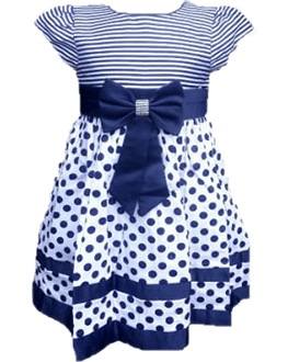 Polka Stripe Cotton Dress