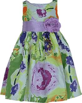 Dorissa Floral Shantung Ball Dress