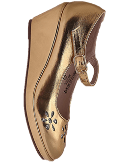 wedge shoe -Gold