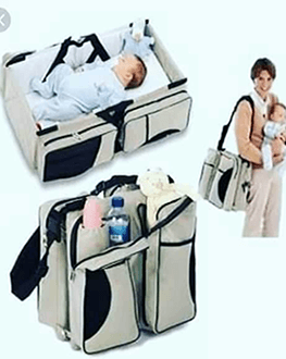 Baby Bag 3 in 1 - Diaper Bag, Travel Bed & Change Station